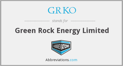 GRKO - Green Rock Energy Limited