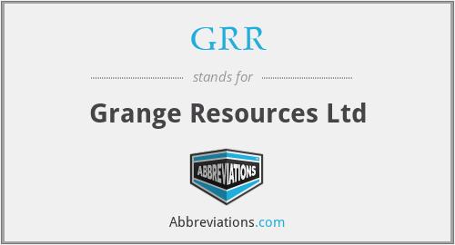 GRR - Grange Resources Ltd