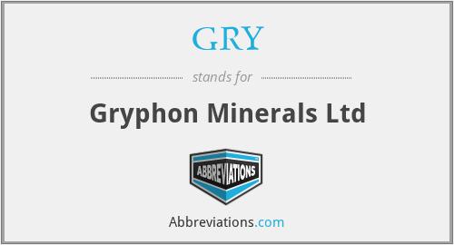 GRY - Gryphon Minerals Ltd