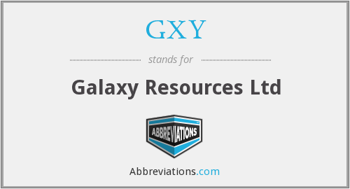 GXY - Galaxy Resources Ltd