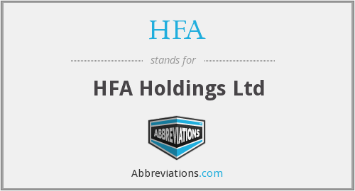 HFA - HFA Holdings Ltd
