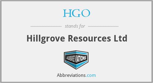 HGO - Hillgrove Resources Ltd
