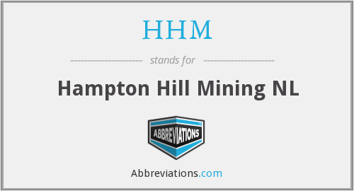 What does HHM stand for?