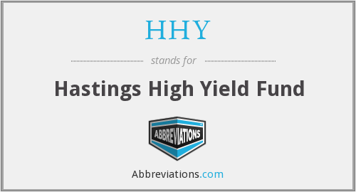 What does HHY stand for?