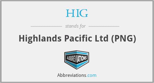 HIG - Highlands Pacific Ltd (PNG)