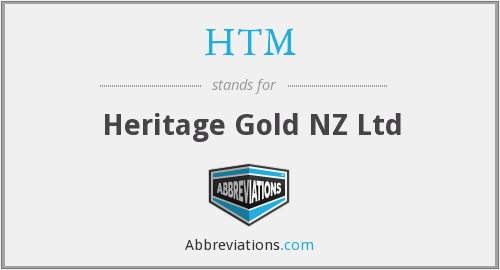 HTM - Heritage Gold NZ Ltd