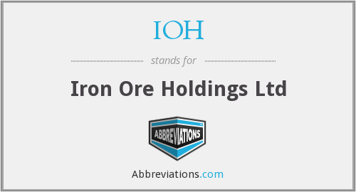IOH - Iron Ore Holdings Ltd