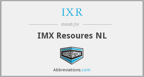 IXR - IMX Resoures NL