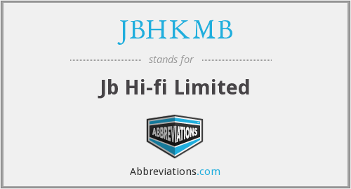 What does JBHKMB stand for?