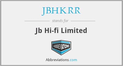 JBHKRR - Jb Hi-fi Limited