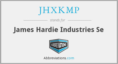 JHXKMP - James Hardie Industries Se