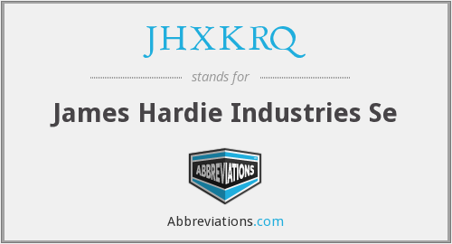 What does JHXKRQ stand for?