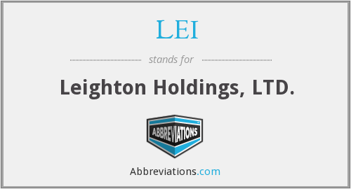LEI - Leighton Holdings, LTD.