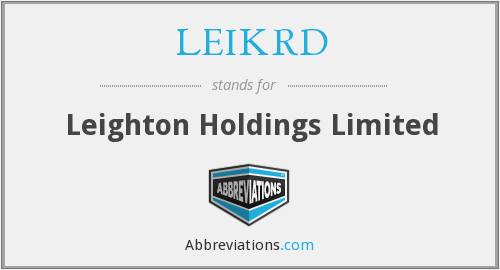 What does LEIKRD stand for?