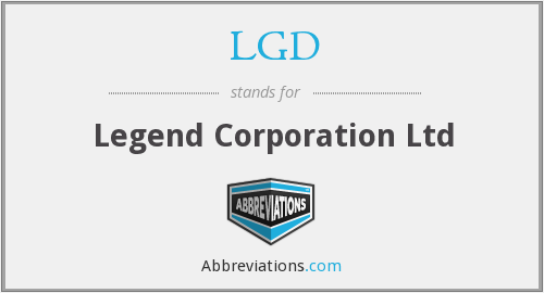 LGD - Legend Corporation Ltd