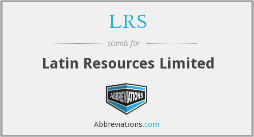 LRS - Latin Resources Limited