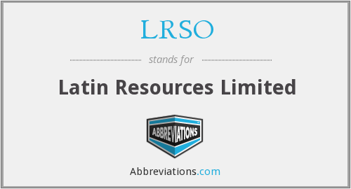 What does LRSO stand for?
