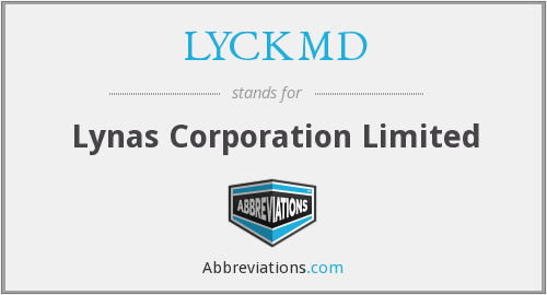 LYCKMD - Lynas Corporation Limited