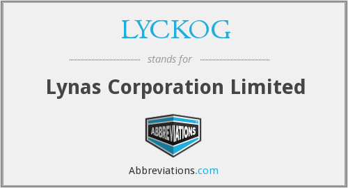 LYCKOG - Lynas Corporation Limited