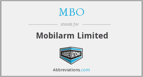 MBO - Mobilarm Limited