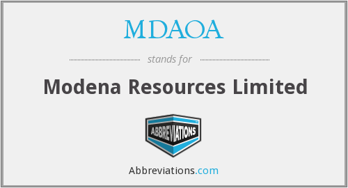 What does MDAOA stand for?