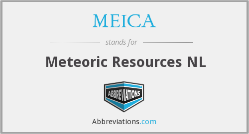 MEICA - Meteoric Resources NL