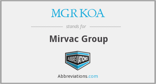 What does MGRKOA stand for?
