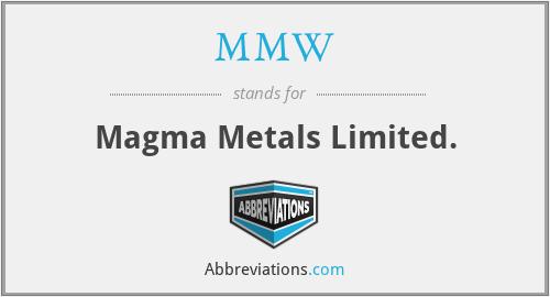 MMW - Magma Metals Limited.