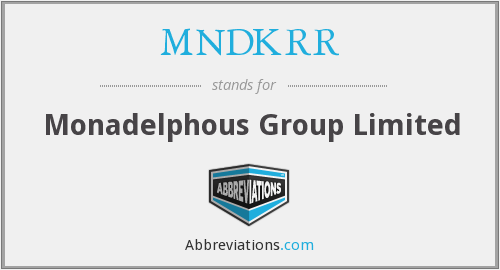 What does MNDKRR stand for?