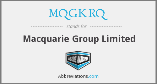 MQGKRQ - Macquarie Group Limited