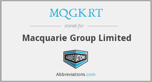 MQGKRT - Macquarie Group Limited