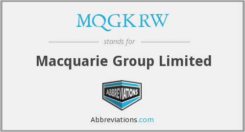 What does MQGKRW stand for?