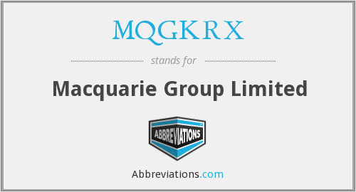 What does MQGKRX stand for?