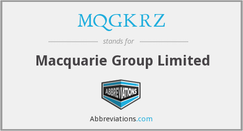 What does MQGKRZ stand for?