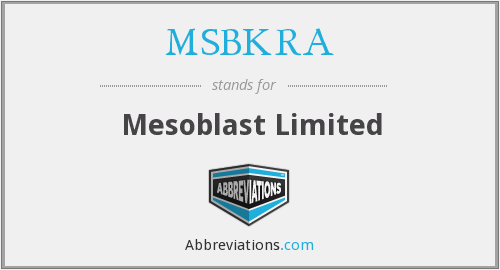 What does MSBKRA stand for?