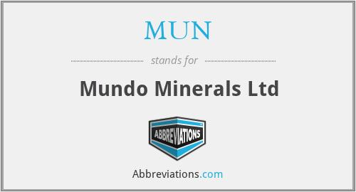 MUN - Mundo Minerals Ltd