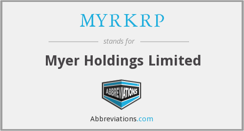 What does MYRKRP stand for?