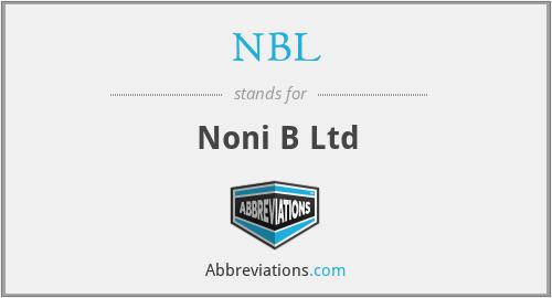 NBL - Noni B Ltd