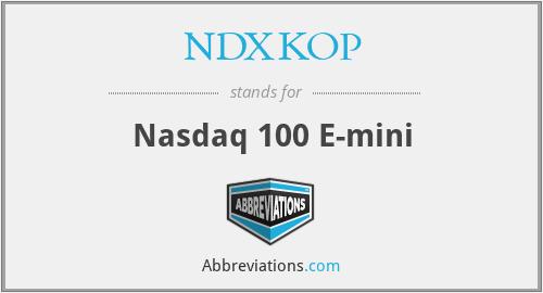 NDXKOP - Nasdaq 100 E-mini