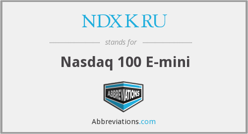 What does NDXKRU stand for?