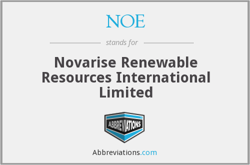 NOE - Novarise Renewable Resources International Limited