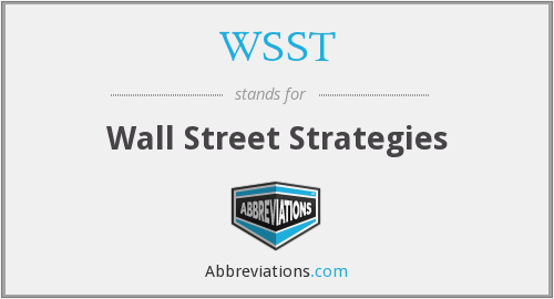 WSST - Wall Street Strategies
