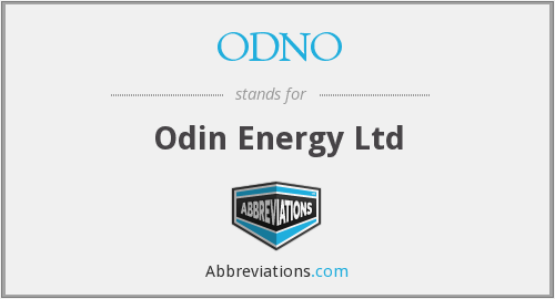 What does ODNO stand for?