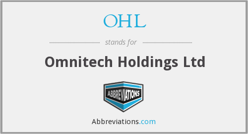 OHL - Omnitech Holdings Ltd