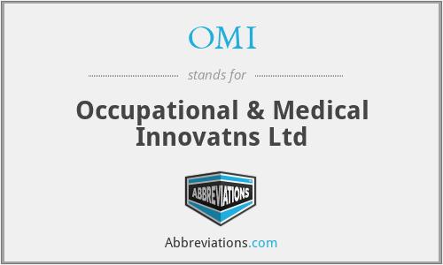OMI - Occupational & Medical Innovatns Ltd