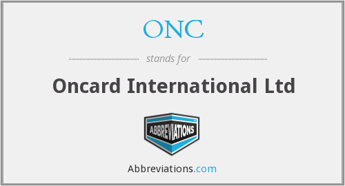ONC - Oncard International Ltd