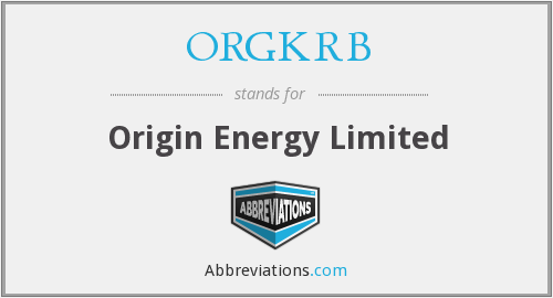 What does ORGKRB stand for?