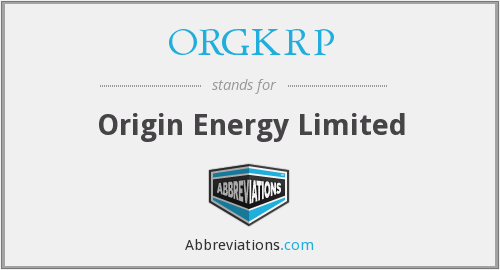 ORGKRP - Origin Energy Limited