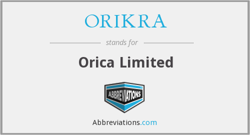 What does ORIKRA stand for?