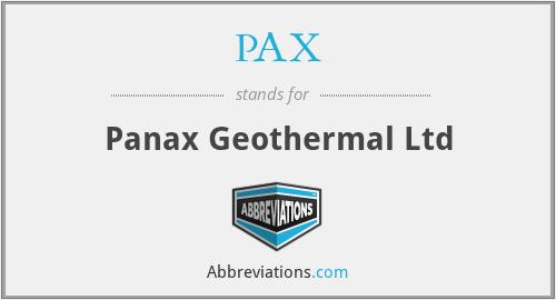 PAX - Panax Geothermal Ltd
